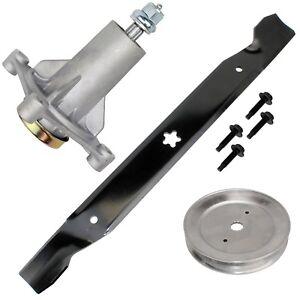 Deck Mulching Blade Spindle Belt Kit Husqvarna GTH26V54 LGT2554 LGT2654 LGTH2454