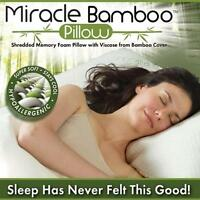 As Seen On Tv Miracle Pillow - Bamboo Sleep Comfort Bed