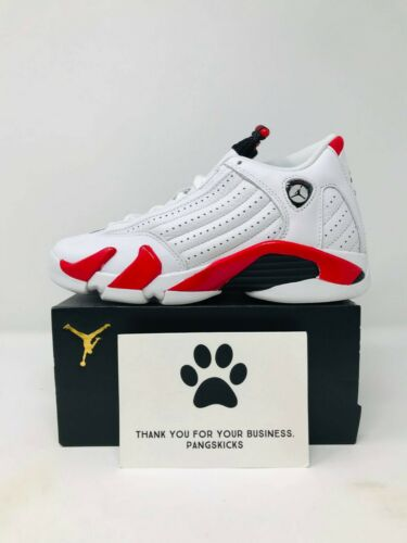 Nike Air Jordan 14 Retro /'Candy Cane/' 487524-100 GS Size 3.5Y-6Y