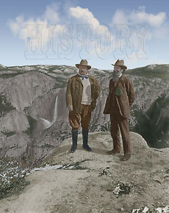 Image Is Loading Theodore Teddy Roosevelt John Muir Yosemite Glacier Point