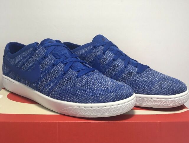 purchase cheap 6b52d 722c3 Nike Mens Size 10 Tennis Classic Ultra Flyknit Blue White Training Sneakers  New