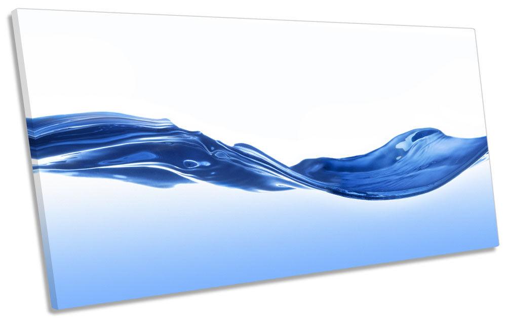 Blau Bathroom Water Wave Picture PANORAMIC CANVAS WALL ART Print