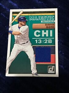 new style dc818 2e6aa Details about DAVID BOTE 2019 PANINI DONRUSS MAJESTIC MATERIALS JERSEY  #MM-DB CHICAGO CUBS MLB