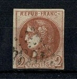 FRANCE-STAMP-TIMBRE-40-B-034-CERES-BORDEAUX-2c-BRUN-ROUGE-034-OBLITERE-A-VOIR-V569