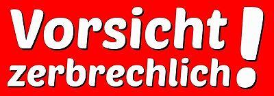 """100 Große Warn- / Hinweis-aufkleber """" Vorsicht Zerbrechlich ! """" Ca. 105 X 37 Mm Wir Haben Lob Von Kunden Gewonnen"""