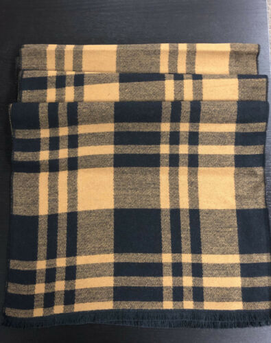 Men/'s Winter Warm Scarf Long Shape With Strip Pattern Designed Cotton Blended
