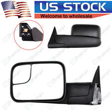 Mirrors Towing Manual Left&Right Pair for Dodge Ram 1500 2500 3500 Side Mirror