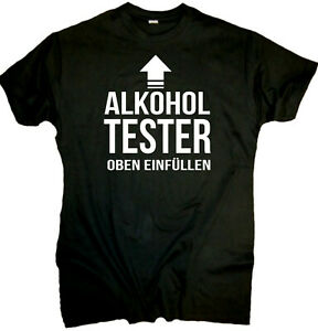 Fun T-Shirt Herren Alkohol Tester Party lustige Sprüche ...