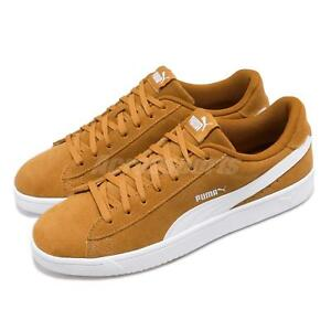 Puma Court Breaker Derby Brown White Suede Mens Womens Casual Shoes ... 798df15dc