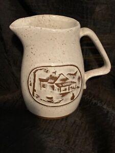 Onion River Pottery Small Speckled Glaze Syrup/Creamer Pitcher Winooski, VT EUC