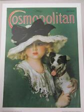 "Cosmopolitan Magazine Art Poster Print May 1923 Girl & Dog Jack Russell 18""x24"""