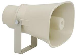 Megafono rettangolare Adastra 952.256 100v Linea molti usi crema