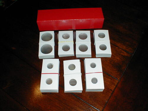 2011//D Penny Cent Roll 300 2x2 Asst Cardboard Coin Holders Flips 3 Storage Box