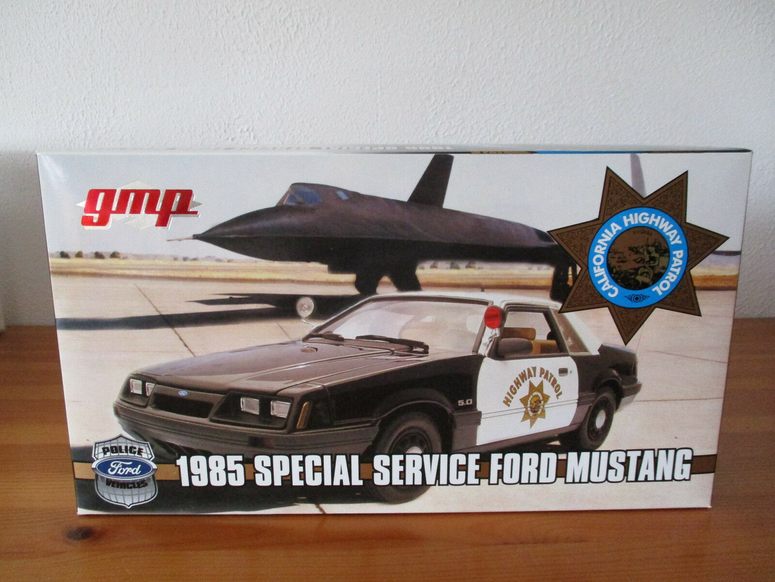 (GOR) 1 18 GMP Ford Mustang California Highway Patrouille Sp 65533;65533; Social Service