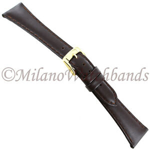 18mm-Speidel-Brown-Genuine-Stitched-Calfskin-Leather-Tapered-Ladies-Band-166-180