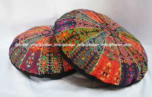 Indian-Cotton-Cushion-Cover-Ottoman-Pouf-Mandala-Floor-Pillows-Round-Meditation