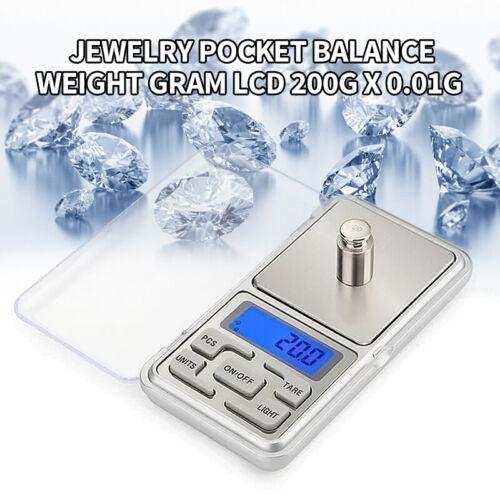 Portable Mini 200gx0.01g LCD Digital Scale Jewelry Pocket Balance Weight Gram