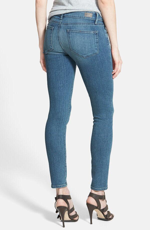 NWT PAIGE PREMIUM DENIM Verdugo Mid-Rise Ankle Skinny Jeans Size 30 Dazeley Wash
