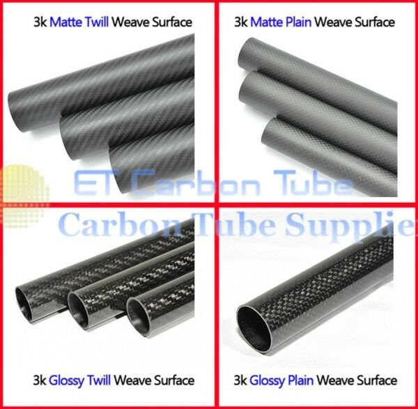 3k Carbon Fiber Tube OD 22mm x ID 18mm x Length 500mm (Roll Wrapped) 2218 DIY