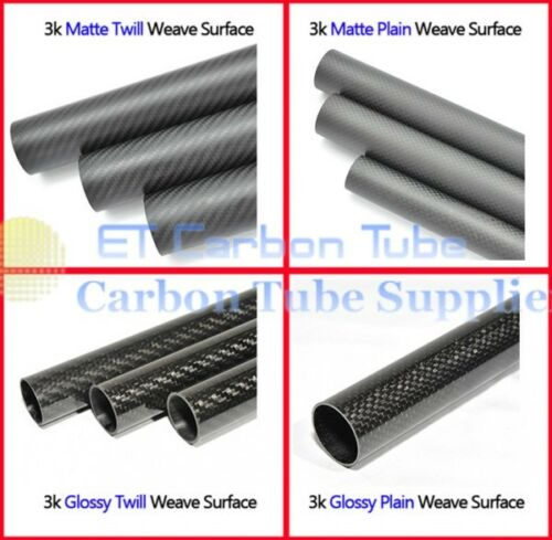 Roll Wrapped 3k Carbon Fiber Tube OD 22mm x ID 18mm x Length 500mm 22*18 DIY