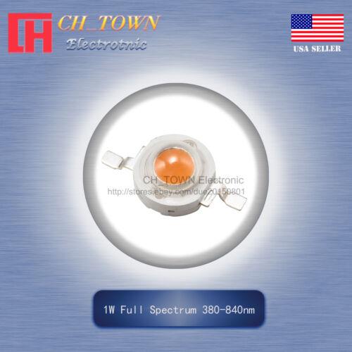 10pcs 1W Watt High Power Full Spectrum 380-840nm SMD LED Chip COB Lamp Beads