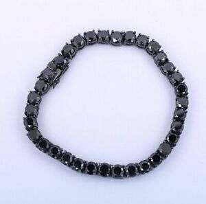 Black Diamond Men Tennis Bracelet 14k