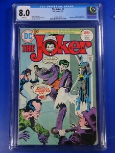 CGC-Comic-8-0-DC-JOKER-1-Key-issue-Fresh-SLAB-Not-CBCS