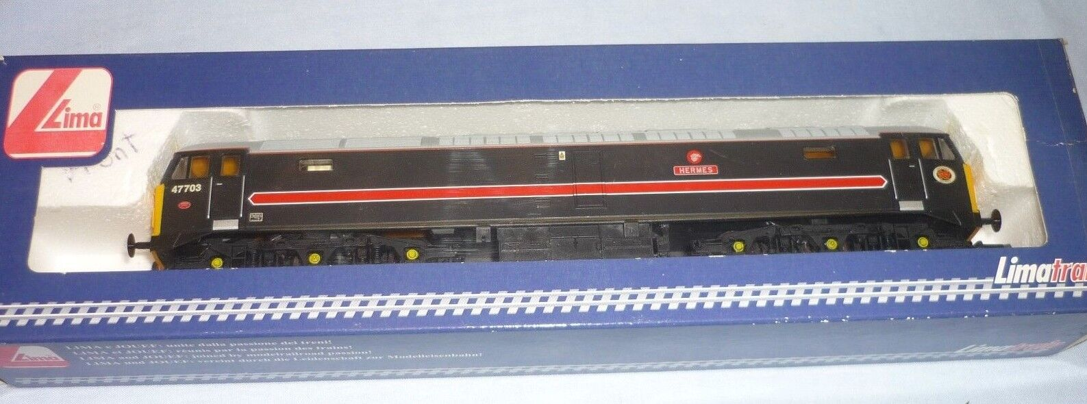LIMA OO GAUGE FRAGONSET CLASS 47  DIESEL Co-Co LOCO 47703 HERMES BOXED