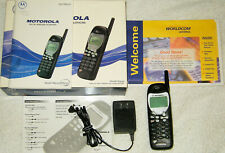 VINTAGE MOTOROLA M3097 ANALOG CELLULAR CELL PHONE BUNDLE WORLDCOM W/ POWER CORD