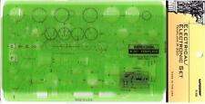 Berol Rapidesign Template - Electrical / Electronic R301 302 303 3PC Set - R-300