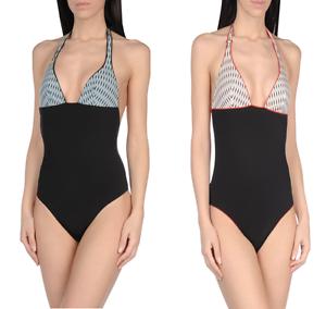 La Perla Women/'s Black One-piece Triangle-cup Cut Back Swimsuit RRP £150 LP4