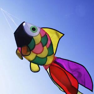 Rainbow-Fish-Kite-Windsock-Outdoor-Garden-Decor-Kids-Line-Laundry-Kid-RVV