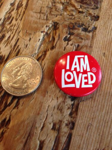 """I AM LOVED Red Classic 1/"""" Small Pin  Helzberg Diamonds Love"""
