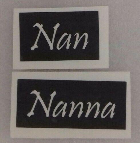 para grabado vidrio Regalo Día de las madres madre mixta 25 X Nan /& Nanna palabra plantillas