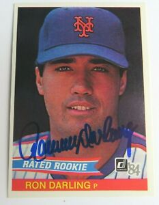 Ron-Darling-METS-1984-Donruss-Signed-Autograph-Auto-Rookie-RC-Card-JSA-COA