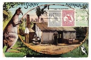 Australia-SG-3-2d-1-MELBOURNE-VICTORIA-21-JAN-14-Postcard-View-TO-GRAZ