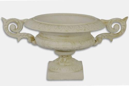 Fonte Coque Cast Iron Planter décoratif Pflanzschale ANTIK-blanc Gartendeko