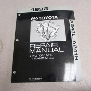 1993 toyota a243l a241h transaxle transmission service manual rh ebay co uk 1990 Corolla 1993 toyota corolla service manual pdf