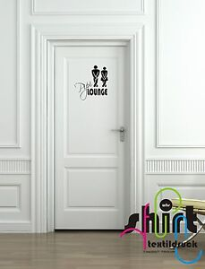 A 1023 WC Pipi Lounge Toilettendekor  Aufkleber  Mann Frau Toilettenaufkleber
