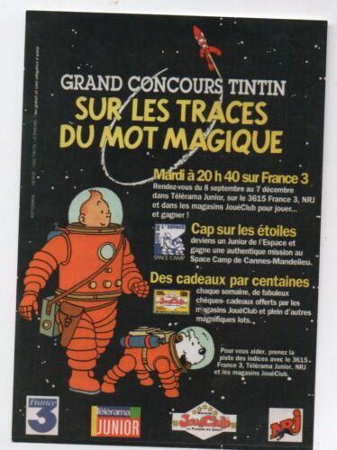 Carte postale Tintin réf Tirage limité F//09 Sur les traces du mot magique