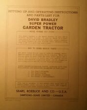 David Bradley Sears 91757599 Garden Tractor Amp Plow Owners Amp Parts 2 Manuals