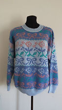 Middlebrook Pack Sweater Size Large Pastel Bow Flower Longsleeve