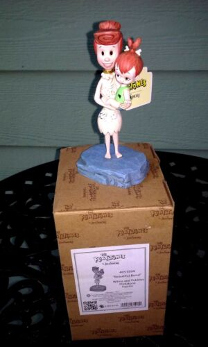 "Flintstones "" Beautiful Bond "" Wilma & Pebbles Figurine By Jim Shore 4051594 New"