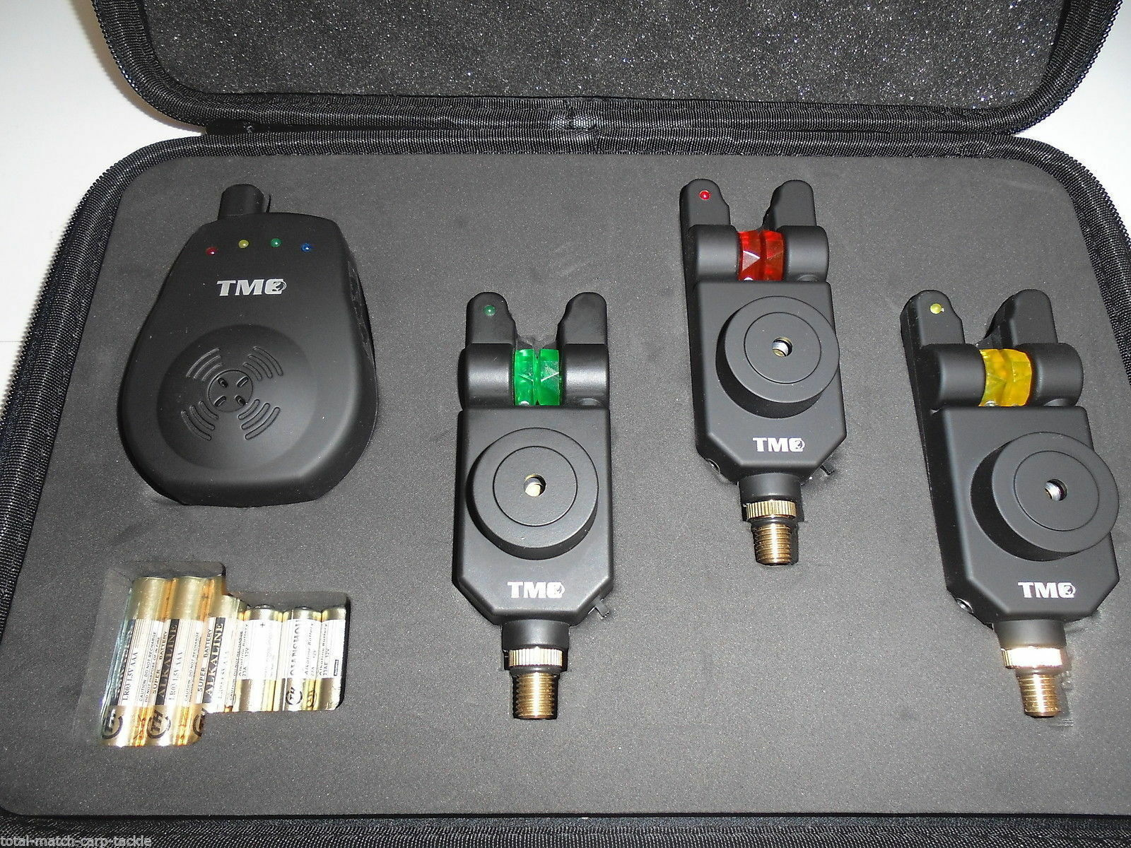 3 x TMC Mag Roller wireless Bite Alarms, Receiver, Case. Carp, LED, Free Gift