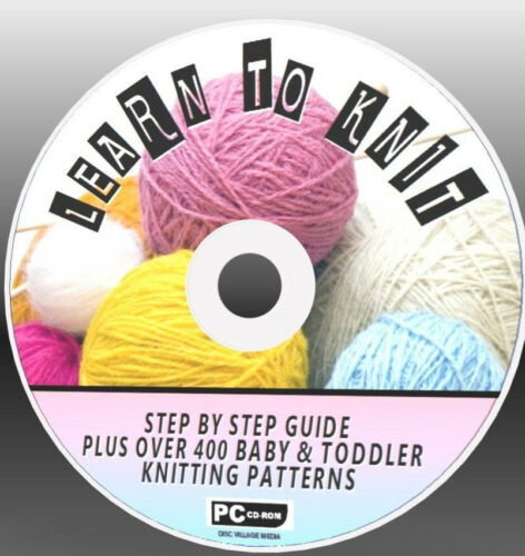 EASY TO FOLLOW GUIDES /& 400 /& BABY KNITTING PATTERNS LEARN TO KNIT NEW CD ROM