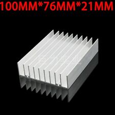 2pcs 1007621mm Silver Aluminum Heat Sink For Led And Power Ic Transistor