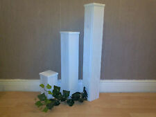 Dekosäulen 3er Set weiß, Dekosäule
