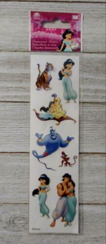 Disney princess aladdin jasmine EK Success Dimensional puffy Stickers 7pc