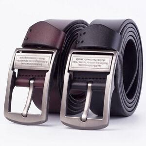 Fashion-Mens-Black-Coffee-Leather-Belt-Metal-Pin-Buckle-Waistband-Strap-Waist