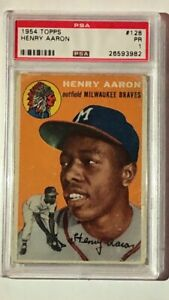 Details About Hank Aaron 1954 Topps Rookie Card Psa 1